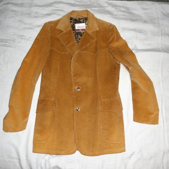Vintage Other - Vintage Cresco Mens Western Corduroy coat Blazer